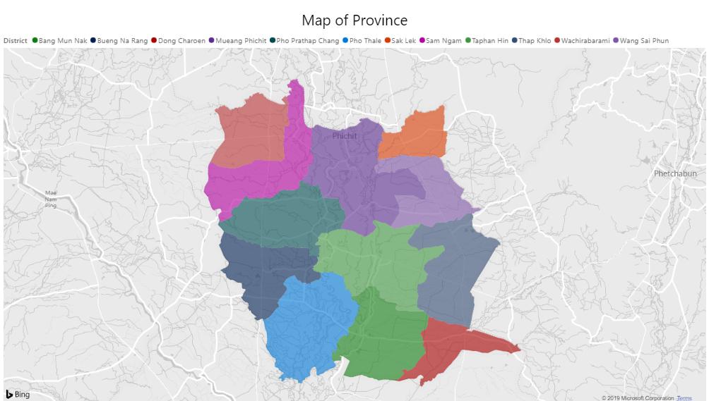 Map of Phichit